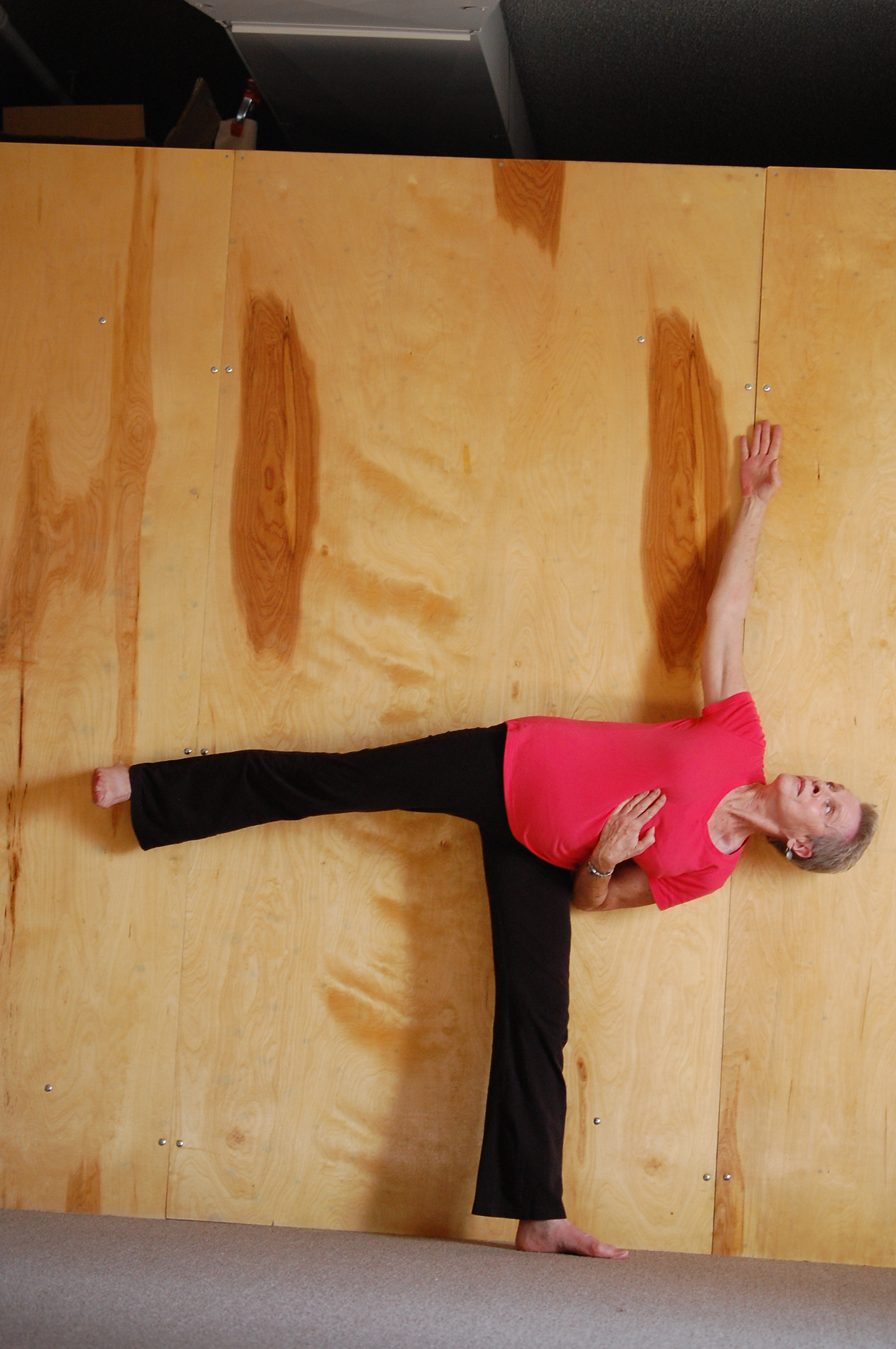 the goodness of the wall  or  variations in ardha chandrasana  Ardha Chandrasana Variations